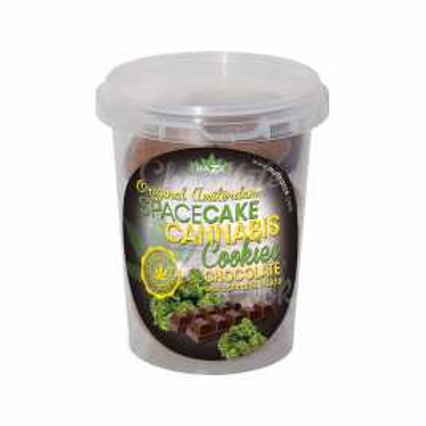 Biscuits space cake au chanvre et chocolat