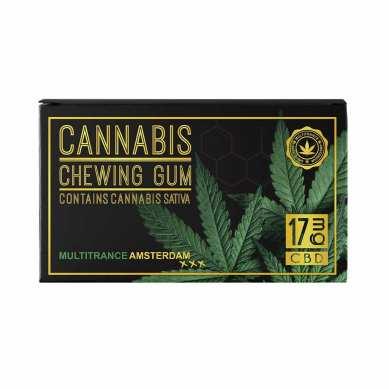 Chewing-gum goût menthe au CBD 2%