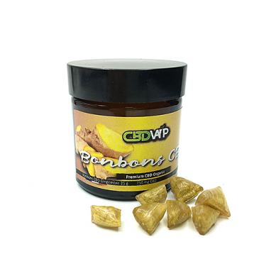 Bonbons CBD 3% saveur Gingembre