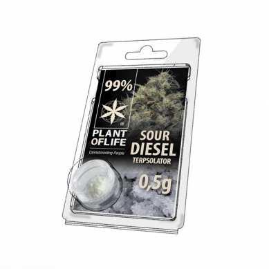 Cristaux de CBD arômatisés Sour Diesel 99% pur 500mg